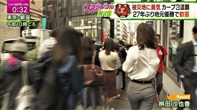 桝田沙也香~ピタピタパンツでの取材を斜め下アングルで撮られパン線までも!0005shikogin