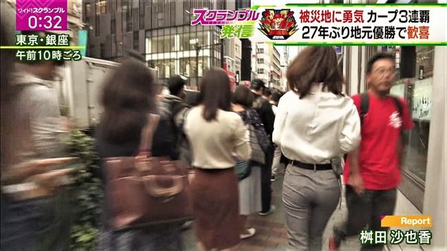 桝田沙也香~ピタピタパンツでの取材を斜め下アングルで撮られパン線までも!0006shikogin