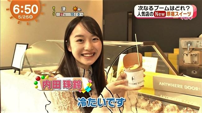 内田珠鈴~めざましテレビイマドキガールで早朝から可愛い笑顔を見せてくれ話題沸騰!0002shikogin