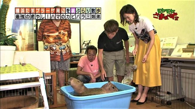 福田典子~モヤモヤさまぁ~ず2で薄手のスカート姿を強風が襲いヒップの形が鮮明に!0002shikogin