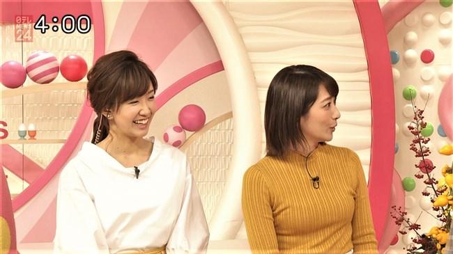笹崎里菜~最近は特にピチピチのニット服でオッパイを強調している感じがする!0013shikogin