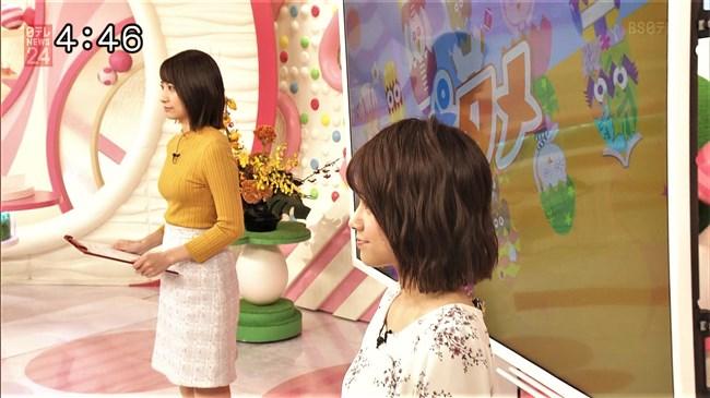 笹崎里菜~最近は特にピチピチのニット服でオッパイを強調している感じがする!0018shikogin