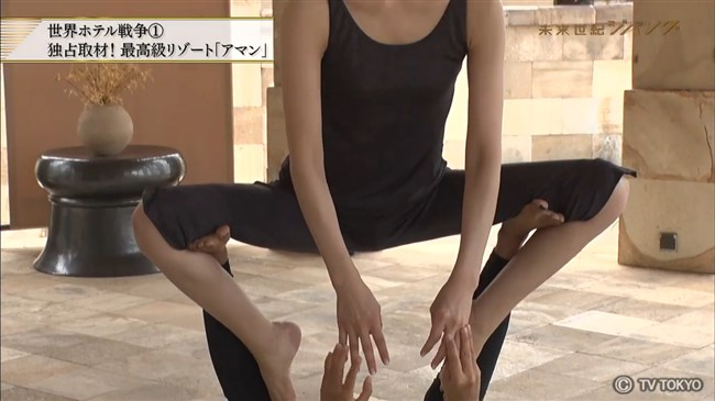 森本智子~未来世紀ジパングで股間ピタピタで美し過ぎるヨガ姿を見せ超興奮!0012shikogin