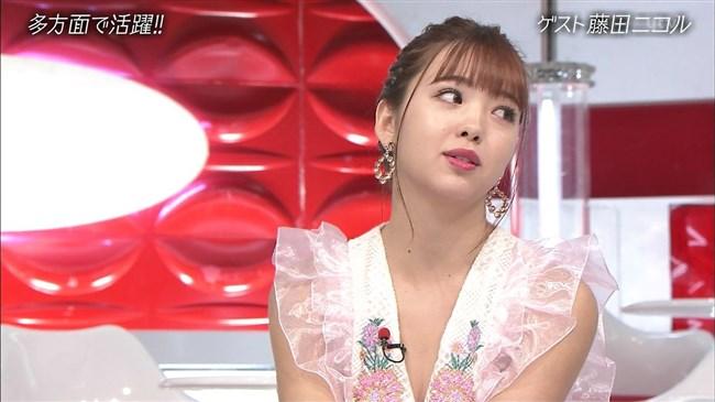 藤田ニコル~おしゃれイズムでの胸元が大きく空いたドレス姿がエロ可愛過ぎる!0011shikogin