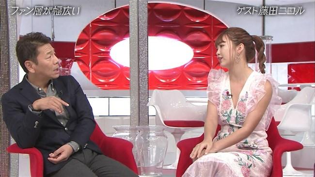 藤田ニコル~おしゃれイズムでの胸元が大きく空いたドレス姿がエロ可愛過ぎる!0012shikogin