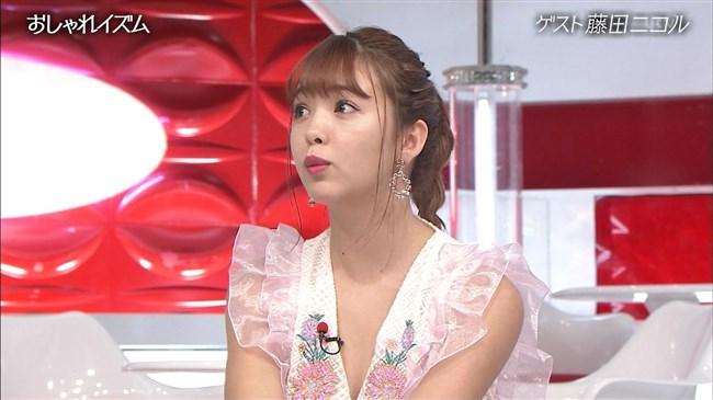 藤田ニコル~おしゃれイズムでの胸元が大きく空いたドレス姿がエロ可愛過ぎる!0013shikogin