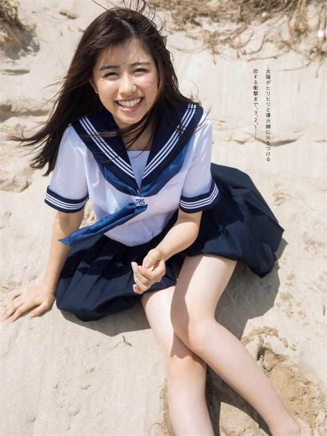 萩田帆風~日本一可愛い女子高生の週プレ水着グラビアはエロ過ぎてヤバい!0003shikogin