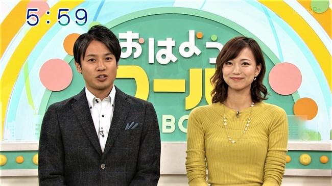 斎藤真美~おはようコールABCにて黄色のニット服で大きなオッパイがクッキリ強調!0008shikogin