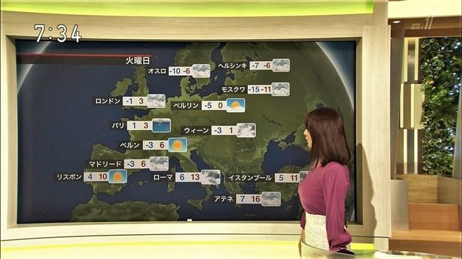 吉井明子~NHK-BSお天気コーナーでの天気図が隠れるほどの爆乳横チチが凄過ぎる!0004shikogin