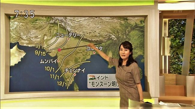 吉井明子~NHK-BSお天気コーナーでの天気図が隠れるほどの爆乳横チチが凄過ぎる!0005shikogin