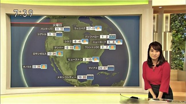 吉井明子~NHK-BSお天気コーナーでの天気図が隠れるほどの爆乳横チチが凄過ぎる!0006shikogin