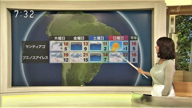 吉井明子~NHK-BSお天気コーナーでの天気図が隠れるほどの爆乳横チチが凄過ぎる!0010shikogin