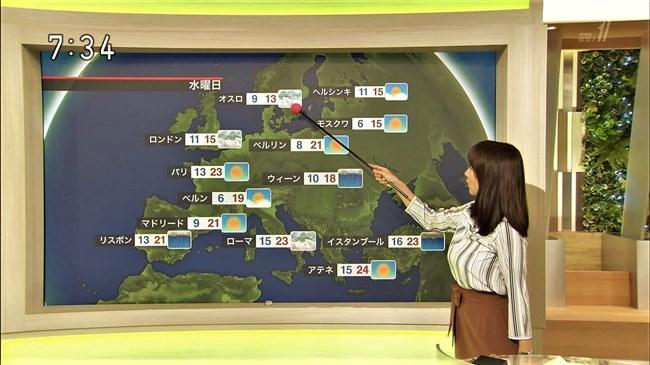 吉井明子~NHK-BSお天気コーナーでの天気図が隠れるほどの爆乳横チチが凄過ぎる!0012shikogin