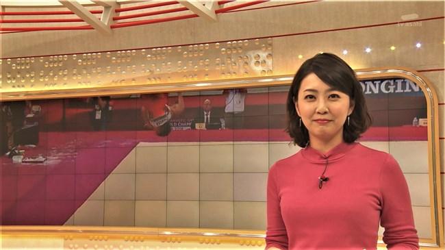 矢島悠子~スーパーJチャンネルでのピチピチニット服のたくましい胸元!0010shikogin