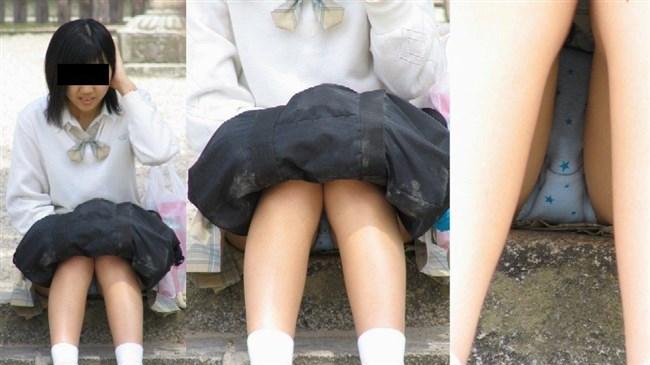 ミニスカJKが屋外でしゃがんだり座ったりすると必ずパンチラする法則www0008shikogin