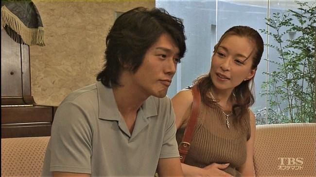 真矢ミキ~TBSドラマのバツ彼での巨乳な着衣オッパイと胸チラが最高に良かった!0016shikogin