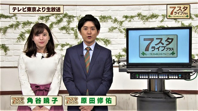 角谷暁子~最近ニット服での胸の膨らみが以前より増したように思うんだけど!0002shikogin