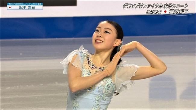 紀平梨花~全日本フィギュアでの丸々ヒップと開脚スケーティングに超興奮!0002shikogin