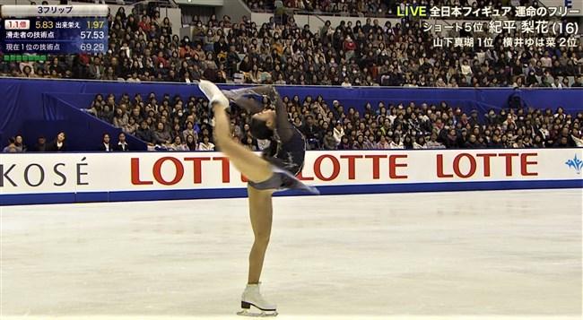 紀平梨花~全日本フィギュアでの丸々ヒップと開脚スケーティングに超興奮!0003shikogin