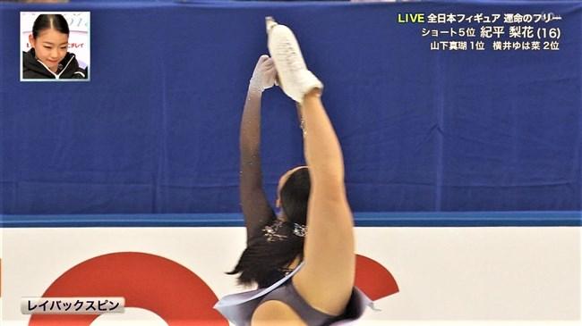 紀平梨花~全日本フィギュアでの丸々ヒップと開脚スケーティングに超興奮!0005shikogin
