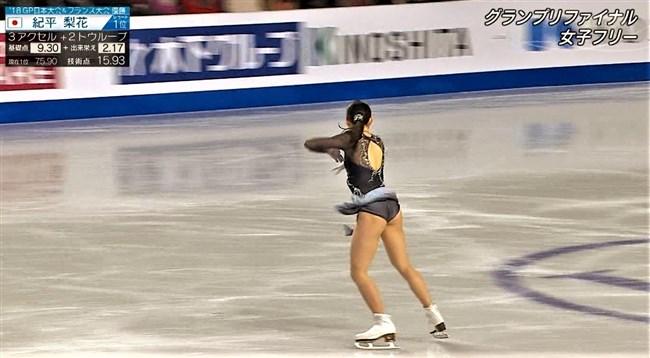 紀平梨花~全日本フィギュアでの丸々ヒップと開脚スケーティングに超興奮!0014shikogin