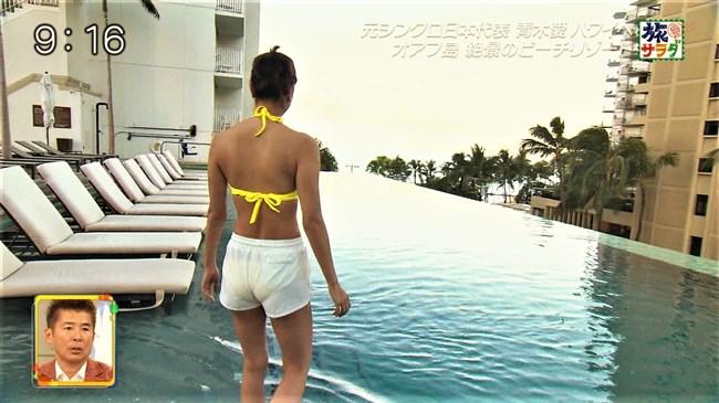 青木愛~年末の旅サラダでスタイル抜群の超エロい水着姿を見せてくれ興奮!0007shikogin