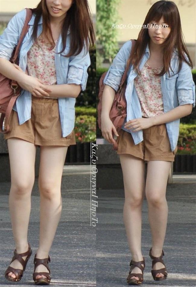 街行く一般人女子の生足が美味しそうな着衣エロ画像0012shikogin