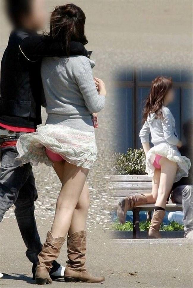 突風でスカートがめくれる!神アシストで見えたパンツは格別wwwww0023shikogin