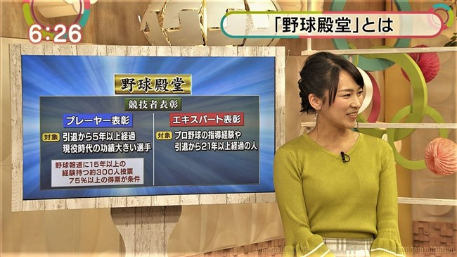福永美春~上品でなだらかなニット服の胸元で刺激する美人アナに釘付け!0009shikogin