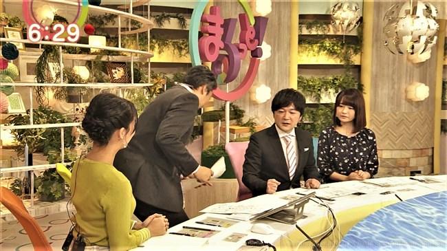 福永美春~上品でなだらかなニット服の胸元で刺激する美人アナに釘付け!0011shikogin