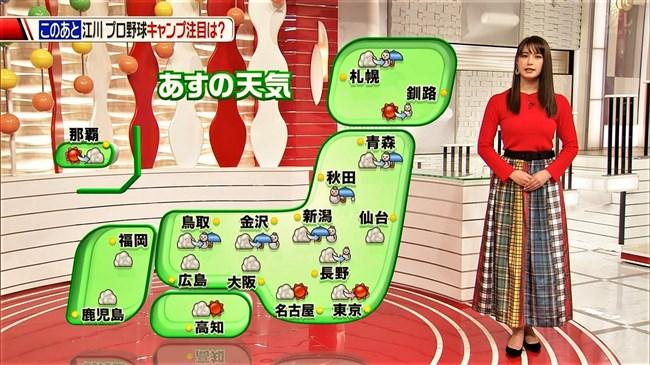 トラウデン直美~スポーツ番組Going!でニット服から突き出たロケットおっぱい!0011shikogin