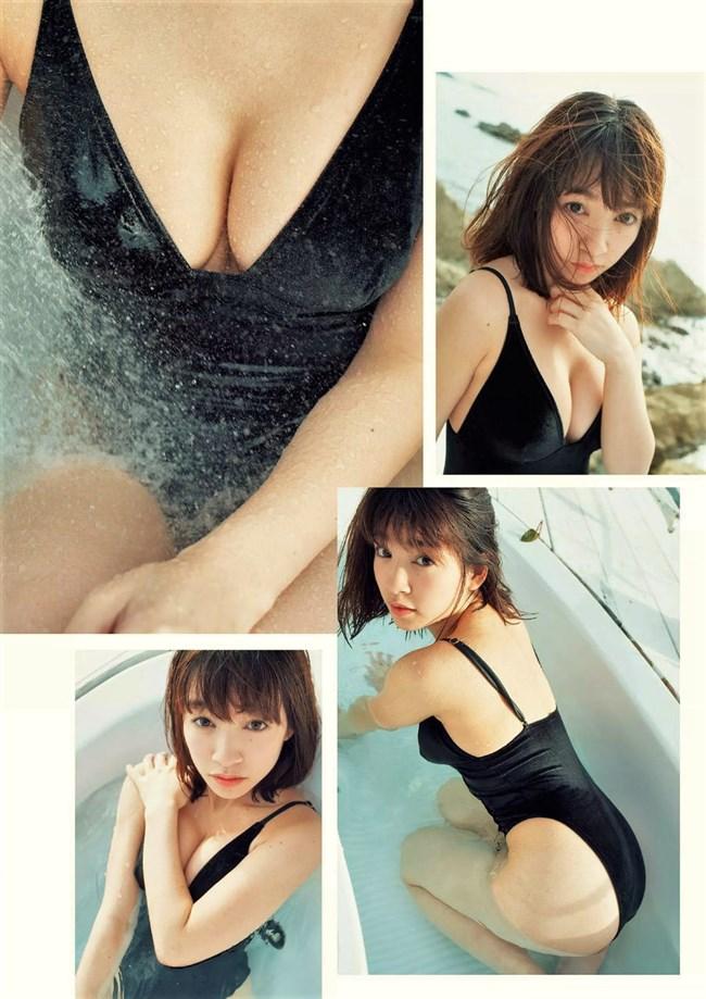 百瀬はる夏~クロちゃんで注目された美形の初水着グラビアは超イイ身体で最高!0003shikogin