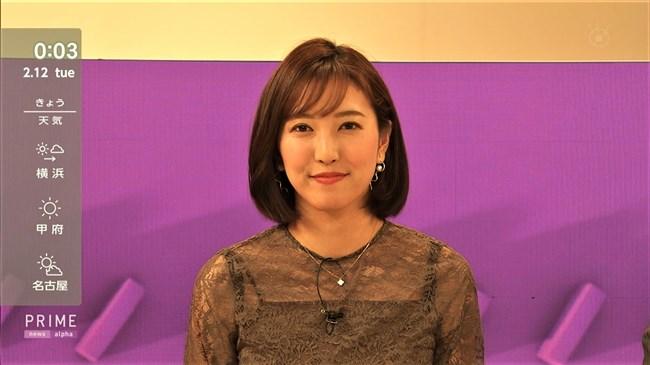 小澤陽子~代理のプライムNEWSで完全に狙ってのキャミ透け!意外としたたか!0010shikogin