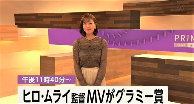 小澤陽子~代理のプライムNEWSで完全に狙ってのキャミ透け!意外としたたか!0004shikogin