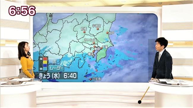 保里小百合~おはよう日本でのロケット巨乳ニット服姿が悩まし過ぎてアウト!0003shikogin