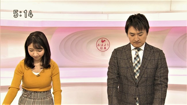 保里小百合~おはよう日本でのロケット巨乳ニット服姿が悩まし過ぎてアウト!0007shikogin