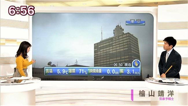 保里小百合~おはよう日本でのロケット巨乳ニット服姿が悩まし過ぎてアウト!0012shikogin