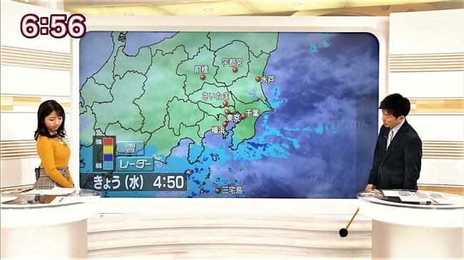 保里小百合~おはよう日本でのロケット巨乳ニット服姿が悩まし過ぎてアウト!0013shikogin