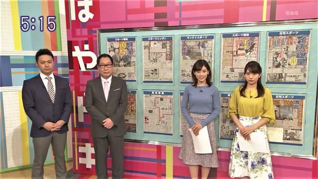 中西悠理~TBSはやドキ!での柔らかそうに盛り上がったニット服の胸元にドキ!0004shikogin