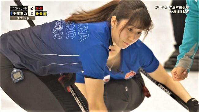 藤澤五月~カーリング選手権でのデカ尻パン線!中部電力美女の胸チラもイイ!0003shikogin