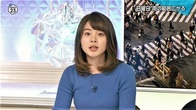 皆川玲奈~NEWS23での柔らかそうなニット服の盛り上がりに幸せを感じます!0009shikogin