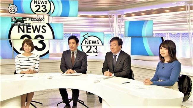 皆川玲奈~NEWS23での柔らかそうなニット服の盛り上がりに幸せを感じます!0003shikogin