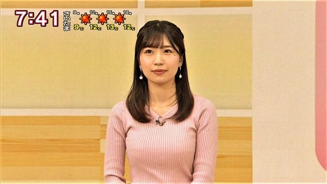 坂元楓~NHK新潟の超美人アナがピンクのニット服で隠れ巨乳であることを主張!0004shikogin
