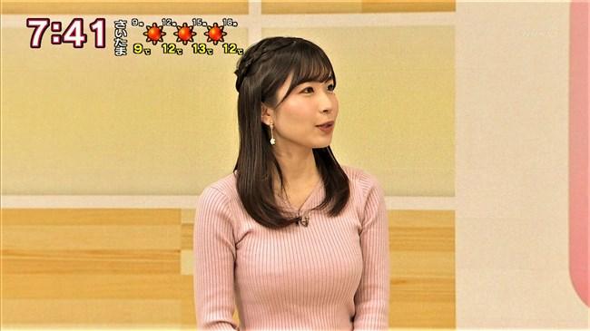 坂元楓~NHK新潟の超美人アナがピンクのニット服で隠れ巨乳であることを主張!0005shikogin