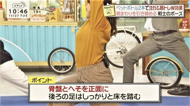 尾崎里紗~Tシャツ姿でのムッチリした上半身の胸の盛り上がりがエロくて最高!0011shikogin