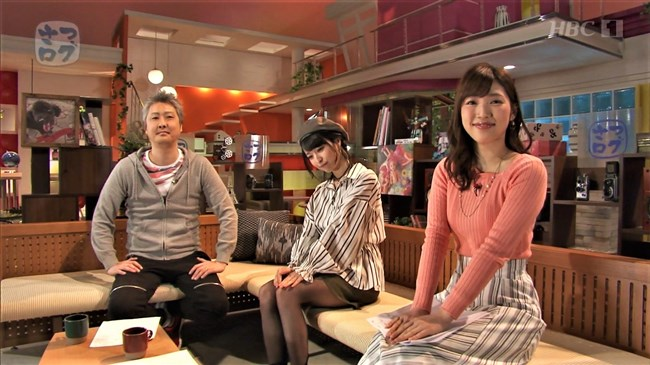 森田絹子~ガッチャンコHBCで人気の美人アナ、ニット服の胸の膨らみと水着姿!0008shikogin