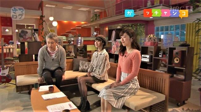 森田絹子~ガッチャンコHBCで人気の美人アナ、ニット服の胸の膨らみと水着姿!0002shikogin