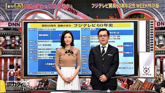 小澤陽子~全力!脱力タイムズでの最近のニット服オッパイ強調はやっぱ凄い!0011shikogin