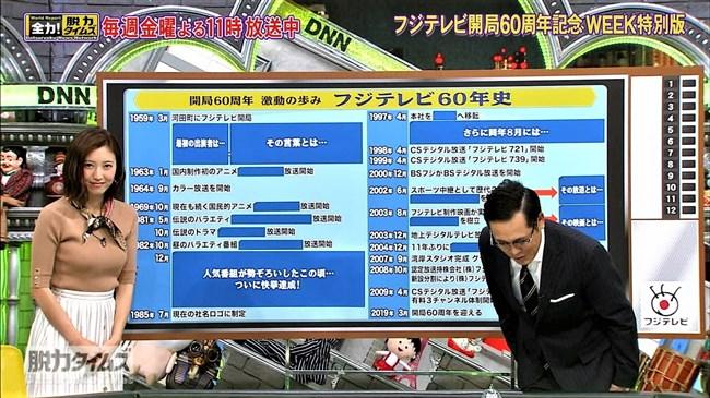 小澤陽子~全力!脱力タイムズでの最近のニット服オッパイ強調はやっぱ凄い!0012shikogin