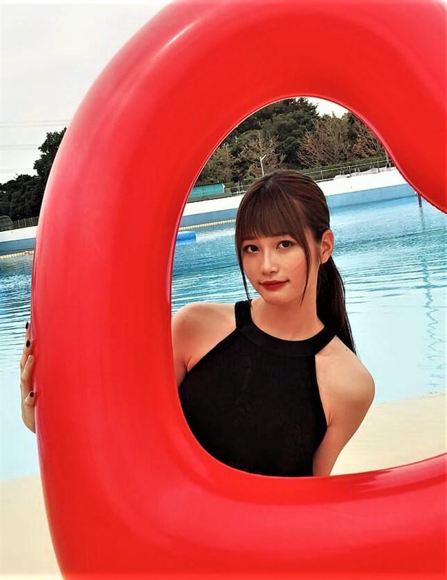 生見愛瑠~プールでの貴重な水着姿とウェディングドレス姿がエロ可愛い!0005shikogin
